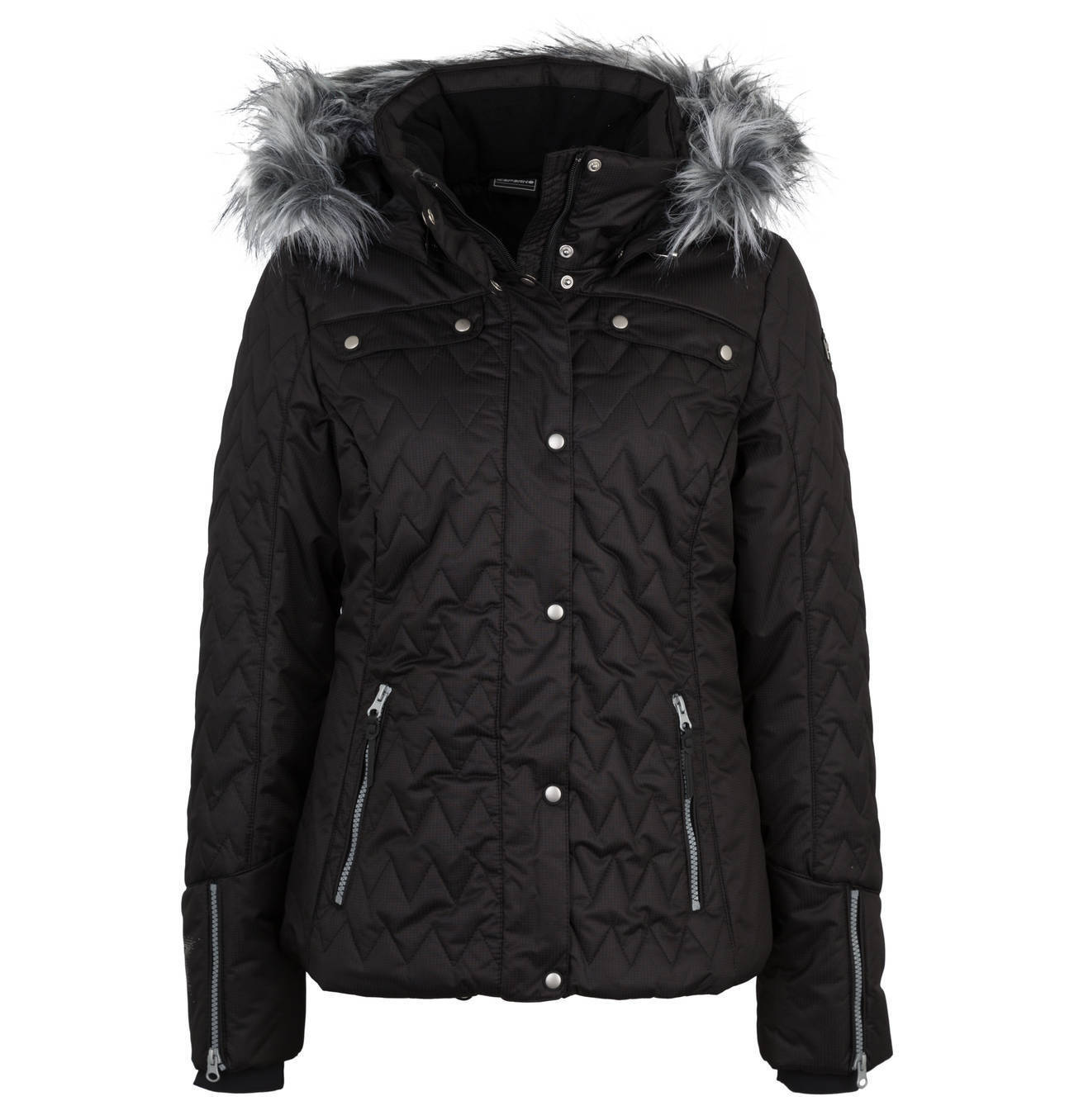 Icepeak Yuuna Kunstpelzkragen Skijacke Damen Damen Damen schwarz  149 99 867c7d