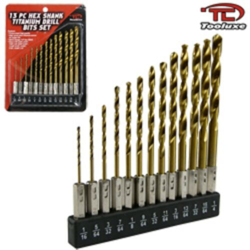 13pc HEX SHANK QUICK CHANGE DRILL BIT SET FOR SNAP IN ON CHANGING CHUCK