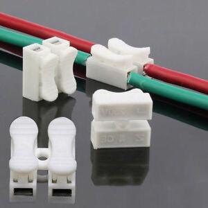 LOT DE 30 / CONNECTEUR DE CABLES ELECTRIQUE TYPE 2 BROCHES
