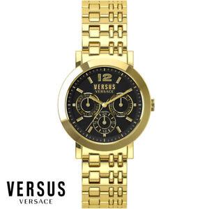Versus-by-Versace-SOR090015-Manhasset-gold-Edelstahl-Armband-Uhr-Damen-NEU