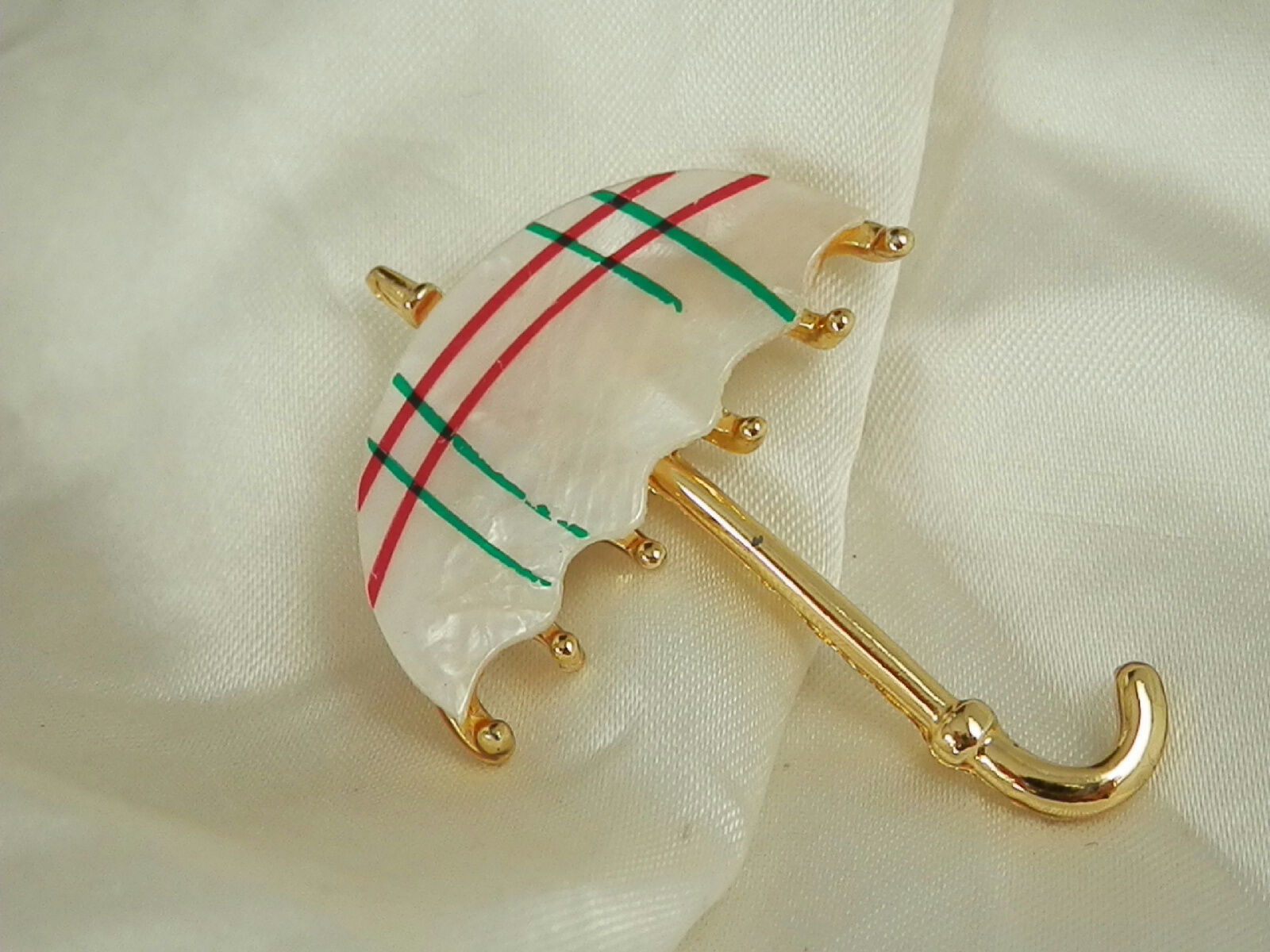 XX Cute Vintage 1970s Mother Of Pearl Umbrella Br… - image 3