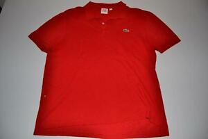 Lacoste Live Red Polo Shirt Womens Size Large L 7 Ebay