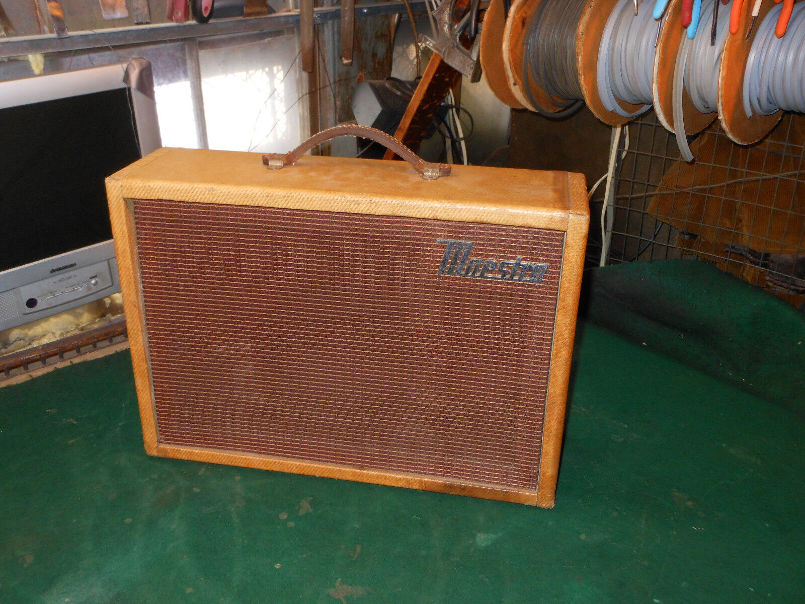 1960 Maestro Gibson Tweed Reverb Echo amp, Working and sounds great Orig Jensen
