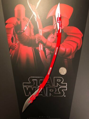 Hot Toys Star Wars Praetorian Guard DB Curved Bladed Weapon loose 1//6th scale