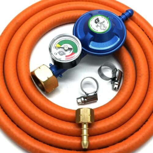 IGt 4.5KG BUTANE GAS REGULATOR /& GAUGE REPLACEMENT HOSE KIT UK CADAC LP MODELS
