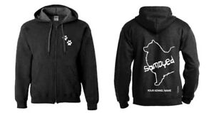 Collectibles Samoyed Full Zipped Dog Breed Hoodie Exclusive Dogeria Design Samoyed