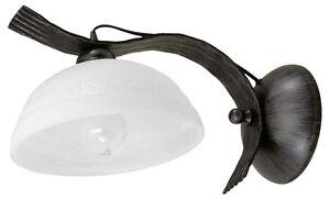 Rustikale wandleuchte landhausstil wandlampe schwarz schmiedeeisen lampe leuchte ebay - Rustikale wandlampe ...