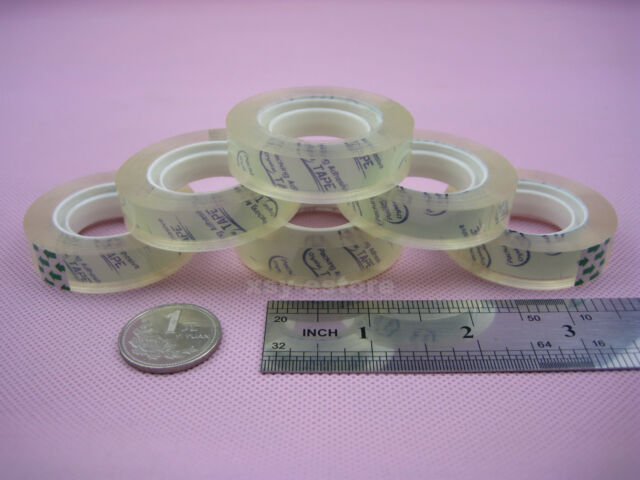 "1 Roll Clear Stationery Scotch Tape Crystal Sellotape 12mm x 30yard_1"" Core"