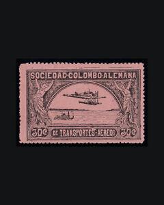 VINTAGE: COLOMBIA 1920 OG LHR SCOTT C15 $ 60 LOT #COL1920LK