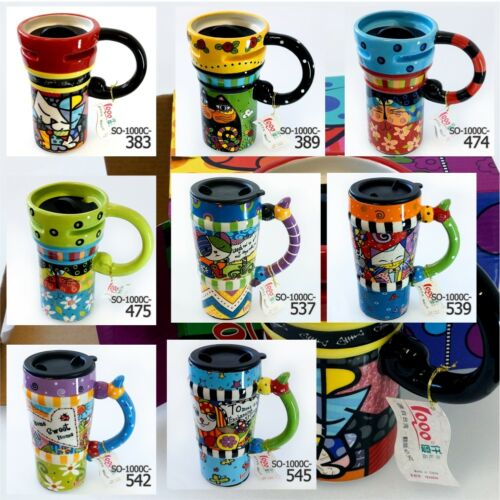 Kaffeetassen Becher Tasse Geschenkartikel Keramikbecher mit Deckel von 1000°-475