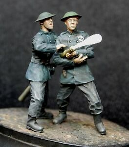 1-35-Scale-resin-model-kit-British-1940-039-s-National-Fire-Service-NFS-2-Figs