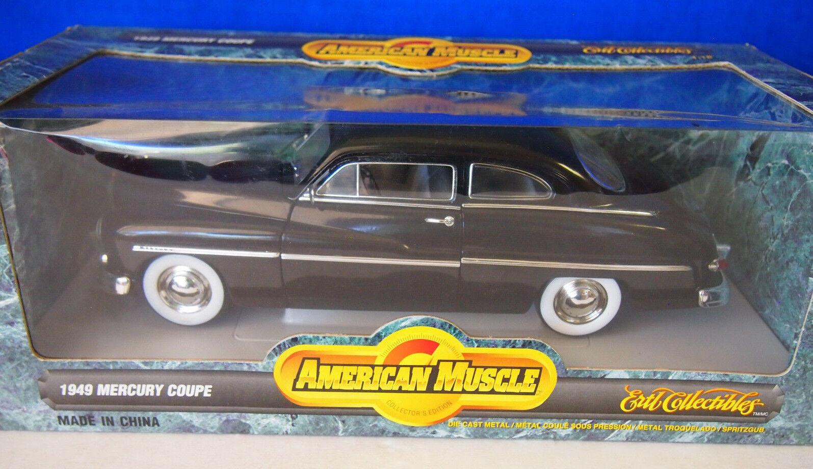 Ertl American Muscle Negro 1949 Mercury Coupe Diecast 1 18