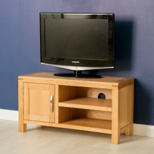 Beau Details About Abbey Light Oak Small TV Stand / Modern Oak TV Cabinet /  Solid Wood TV Unit /NEW