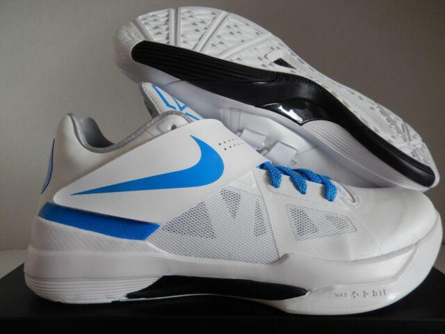 1160868aff12 Nike KD 4 IV Ct16 QS Thunderstruck Mens Aq5103-100 White Blue Shoes ...