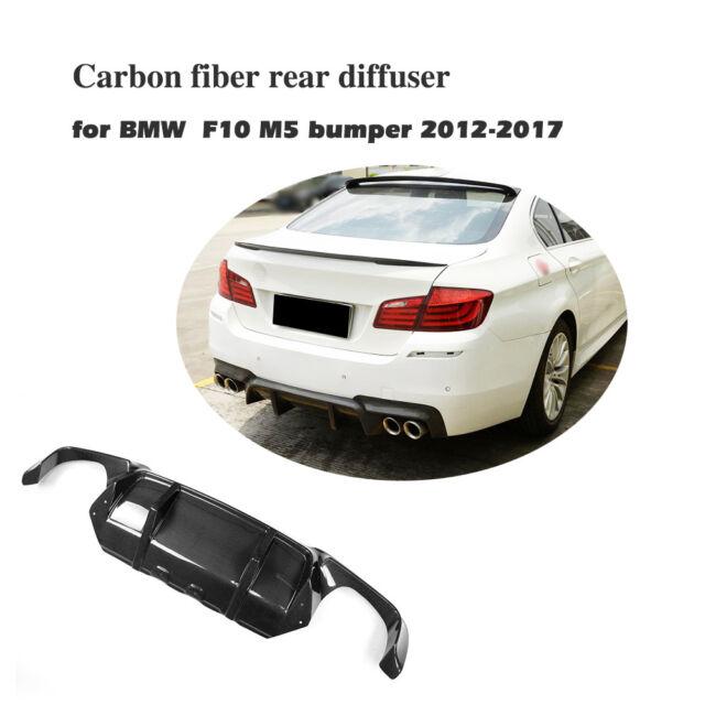 Carbon Fiber Rear Bumper Lip Lower Diffuser Bodykit Fit for BMW F10 M5 12-17