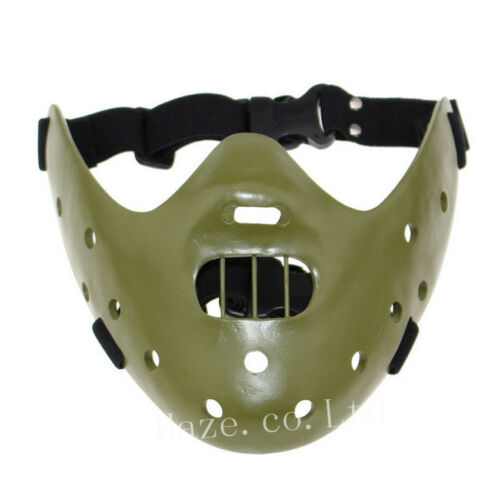 Halloween Silence of the Lambs Hannibal Lecter Mask party Costume Props OOO