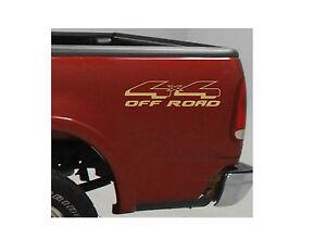 4x4 truck bed decals gold set for ford f 150 super. Black Bedroom Furniture Sets. Home Design Ideas