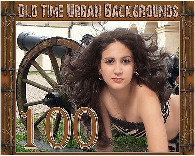 US5 Old Time Urban Senior Digital Backgrounds Photo Backdrop Gothic Antique love