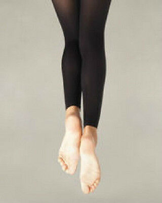 Capezio 140C Girl/'s Size Medium White Hold and Stretch Footless Tights