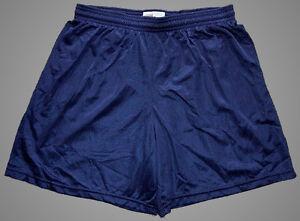 Soffe-Navy-Blue-Nylon-Mini-Mesh-Shorts-Men-039-s-XL