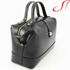 damen handtasche echt leder lederhandtasch henkeltasche schwarz italien business ebay. Black Bedroom Furniture Sets. Home Design Ideas
