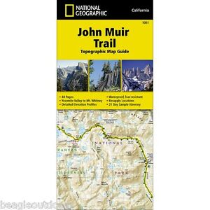Details about National Geographic Trails Illustrated John Muir Trail CA  Topo Map Guide 1001