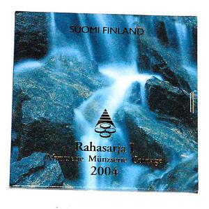 COFFRET FDC EURO FINLANDE 2004  8 PIECES + MEDAILLE COMMEMORATIVE KMS