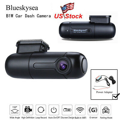 B1W FHD 1080P WiFi Car Dash Camera 360° Rotate Capacitor Parking Mode+Hardwire