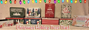 🎁New Christmas Tins Holiday Singles/Sets Holly Tree Farm Cookies Gift 5 Designs