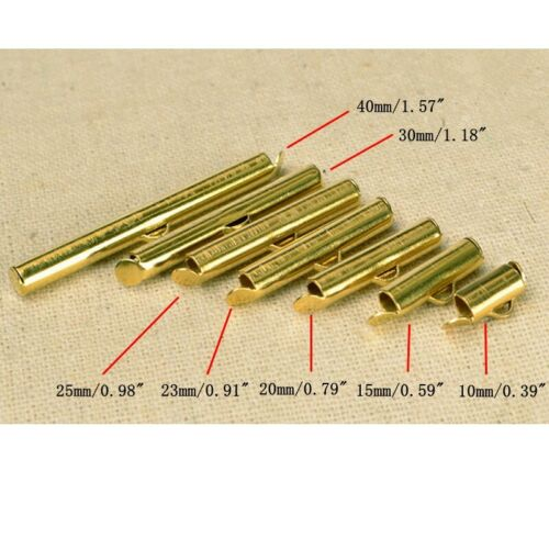 100PCS Brass Slide On End Clasp Tubes Clasp Crimp Claps Fit For Seed Beads