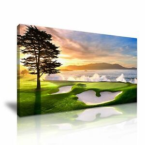 Beautiful-Pebble-Beach-Golf-Course-Canvas-Wall-Art-Picture-Print-More-Sizes