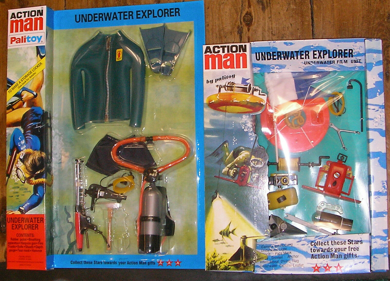 VINTAGE ACTION MAN 40th 40th 40th CARDED UNDERWATER EXPLORER Blau FROGMAN OUTFIT FILM UNIT c791f6