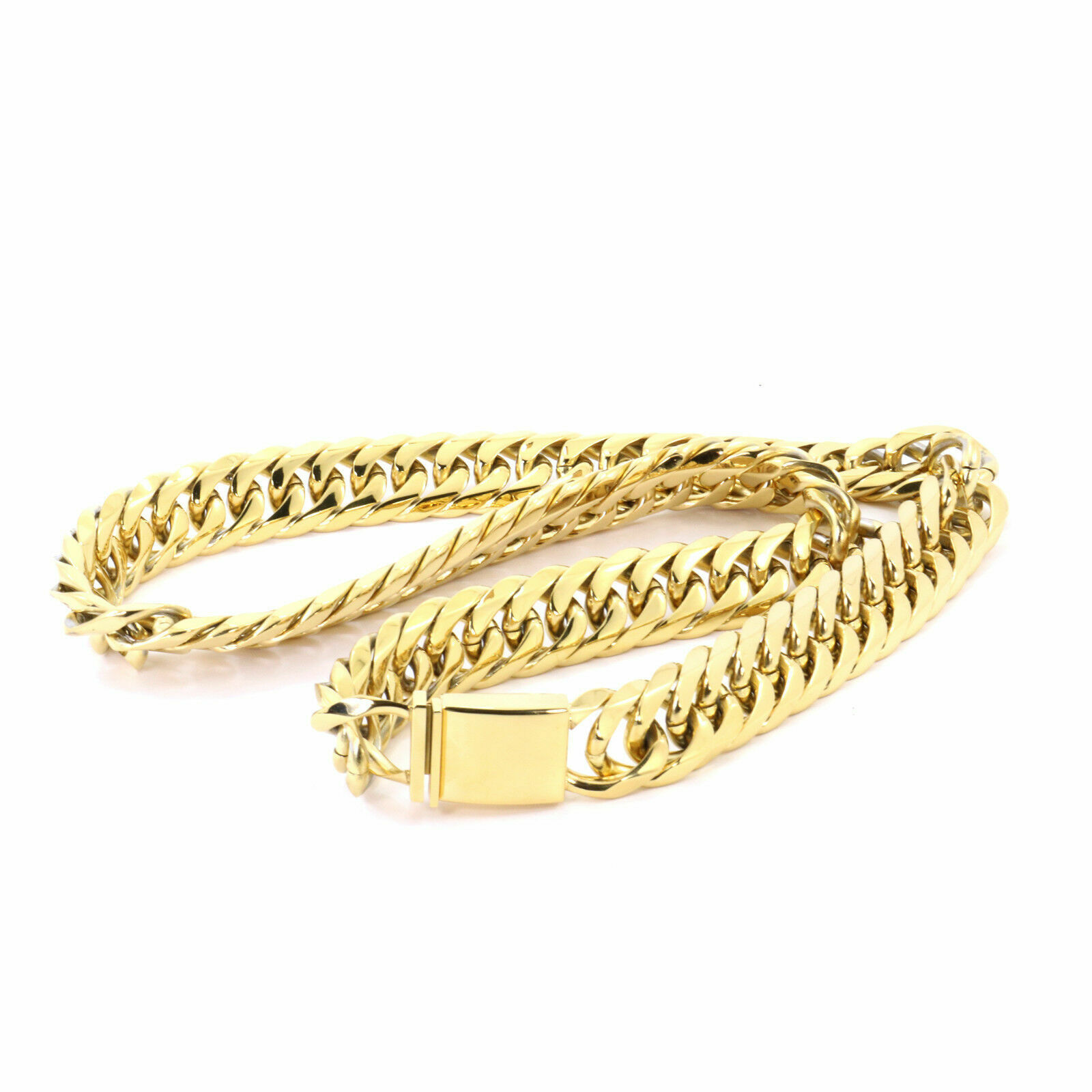 SOLID 14K YELLOW GOLD FINISH THICK HEAVY MIAMI CUBAN TIGHT LINK CHAIN 21MM JayZ