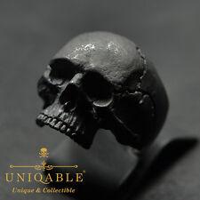 Handmade Biker Ring Skull Size 11 Sterling Silver Men's Freemasonry Jewelry