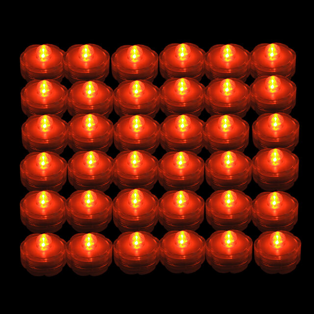 Frequently Bought Together 36 Pcs Orange Led Submersible Battery Operated Tea Light Wedding Centerpiece