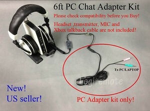 Xbox To Pc Chat Adapter Converter Kit 4 Turtle Beach X42