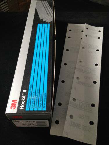 50 x 3M 60443 Hookit II 395L Schleifstreifen 70x419mm 14 Loch P180