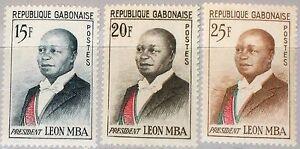 GABON-GABUN-1962-167-69-160-62-President-Leon-Mba-Statesman-Famous-Persons-MNH