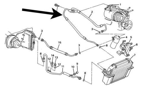 Air Conditioning,AC,Compressor Hose,C4 Corvette,1988,New