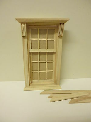 Dolls House Diy      6 over 9 Pane Georgian Window  20345