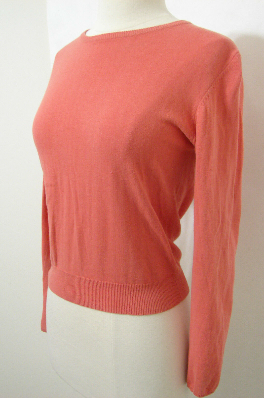 MARC JACOBS Sweater Coral Long Sleeve M Dual Zip Back