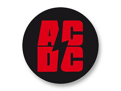 """Pin Button Badge Ø25mm 1/"""" ACDC Hard Rock Eavy Metal Angus Young"""