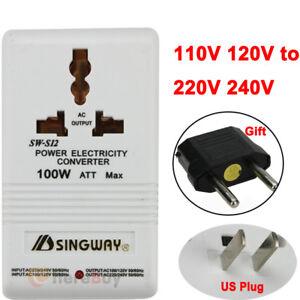 Ac 110V//120V para 220V//240V 100W Transformador Step Up /& Down Dual Conversor de tensão
