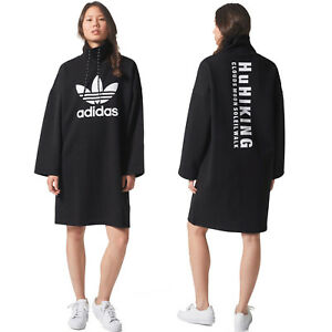 Details about adidas Originals Womens Pharrell Williams HU Hiking Trefoil Logo Sweater Dress
