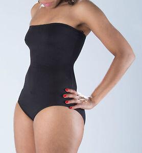 Womens Ladies Sexy Leotard Shoulder-less Black Dance Stretch Cotton Half-top