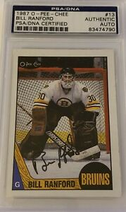 1987-1988-OPC-Bill-Ranford-AUTO-PSA-DNA-RC-ROOKIE-13-AUTOGRAPH-Oilers-Bruins