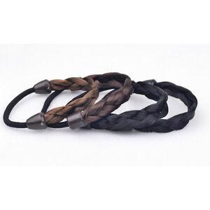 Image is loading Woman-Hair-Piece-Elastic-Fake-Hair-Headband-Braid- 76fec2769d5