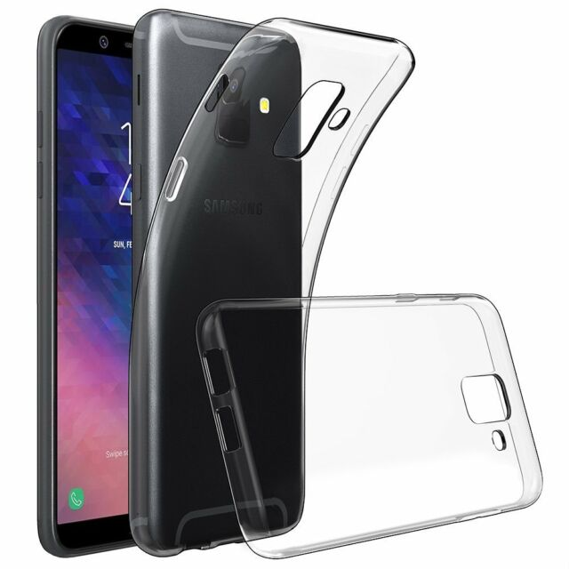 newest 8d35e d0c51 GEL Case and Glass Screen Protector for Samsung Galaxy A6 2018 Clear ...
