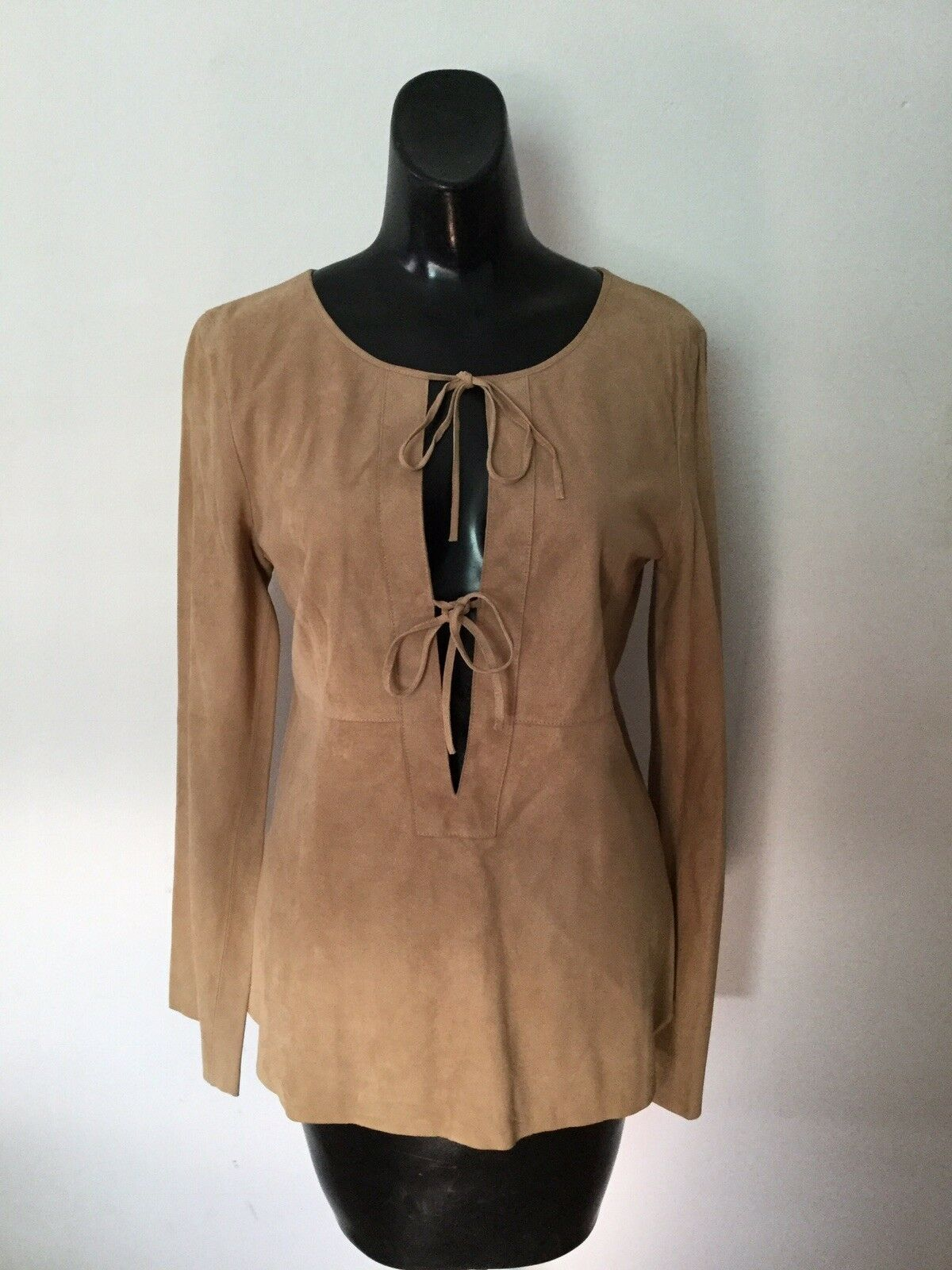 NEW WITH  TAG THEORY FOR BERGDORF GOODMAN SUEDE TOP M