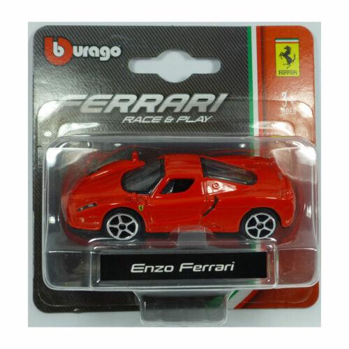 ° Bburago 56000 enzo ferrari rojo escala 1:64 maqueta de coche nuevo